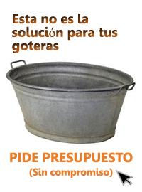 Busca una solución a las goteras
